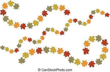 El otoño deja elementos de remolino