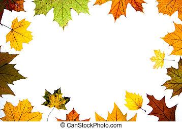 El otoño deja espacio para el texto centrado