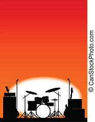 El póster de la banda de rock