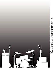 El póster de la banda en vivo