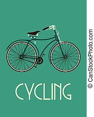 El póster de la bicicleta retro