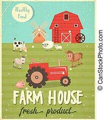 El póster de la casa de la granja