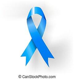 El póster de la cinta azul para el cáncer de próstata. Vector