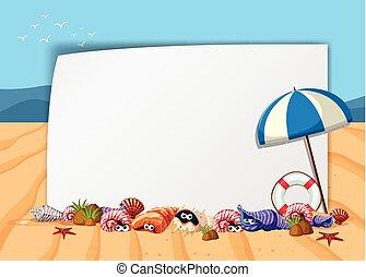 El póster de la escena de la playa