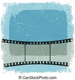 El póster de la película de Grunge. Vector, EPS10