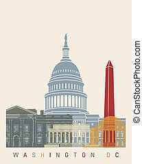 El póster de Washington DC