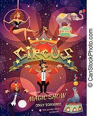 El póster del circo