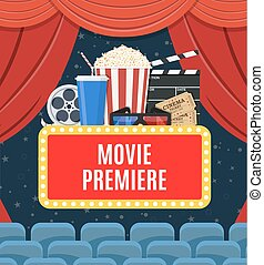 El póster del estreno de películas