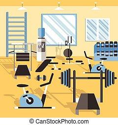 El póster del gimnasio