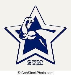 El póster del gimnasio de bolígrafos