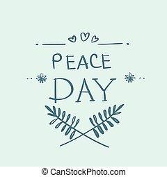 El póster internacional de vacaciones del día de la paz mundial