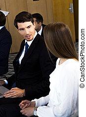 El público de negocios en el entrenamiento