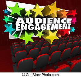 El público del cine de compromiso entretiene a la participación de la multitud
