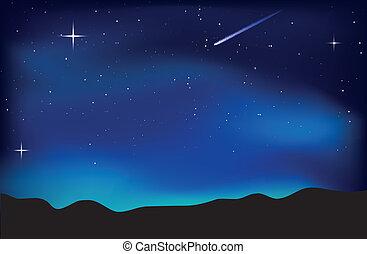 El paisaje del cielo nocturno
