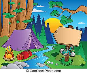 El paisaje forestal Cartoon 6