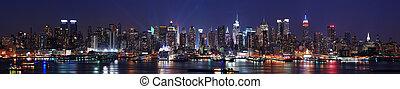 El panorama de la ciudad de Nueva York