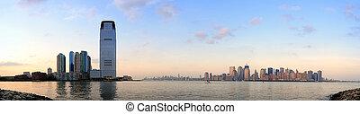El panorama de la ciudad