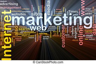 El paquete de palabras de marketing de Internet