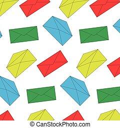 El patrón de color del sobre no se ve