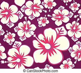 El patrón de Hibiscus sin costura
