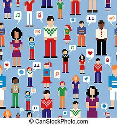 El patrón de la red de medios sociales