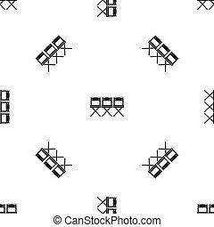 El patrón de las sillas es negro