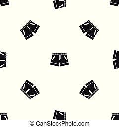El patrón de los shorts es negro
