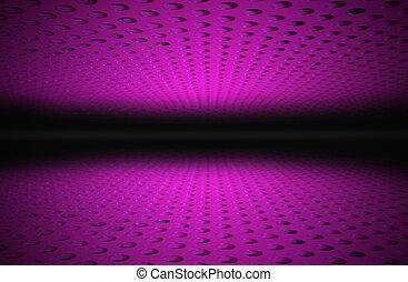 El patrón de lunares púrpura.