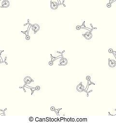 El patrón del triciclo infantil es un vector inalámbrico