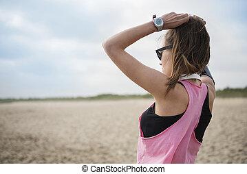 El peinado más cómodo para correr