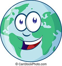 El personaje de dibujos de Planeta Tierra
