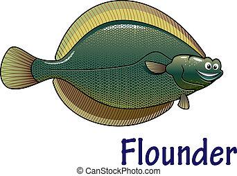 El personaje de Flounder Fish