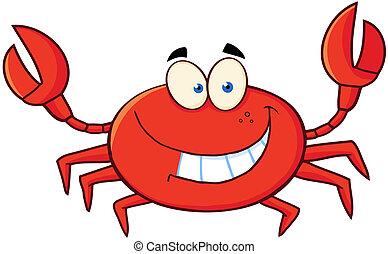 El personaje de la mascota de cangrejo