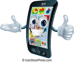 El personaje del móvil