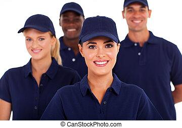 El personal de la industria de servicios