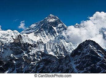 El pico de la montaña Everest - la cima del mundo