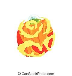 El planeta Venus del sistema solar ilustra la ilustración vectorial del vector del sistema solar