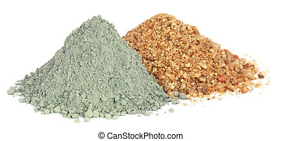 El polvo de cemento de Grady con grava