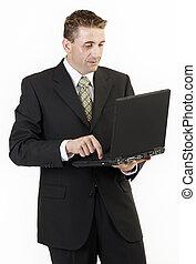 El portátil de los hombres de negocios 2