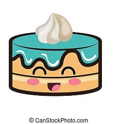 El postre del pastel de Kawaii