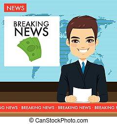 El presentador de la tele