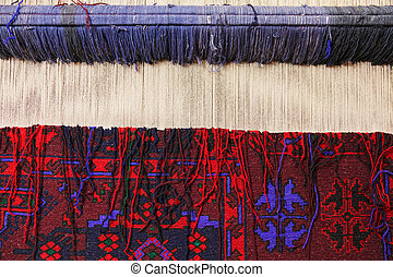 El primer plano de la alfombra