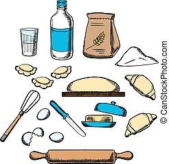 El proceso de cocina de masa amasada