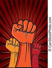El puño de la revolución
