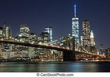 El puente Brooklyn de la ciudad de Nueva York