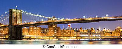 El puente Brooklyn de Nueva York