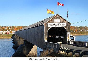 El puente cubierto de madera de Hartland