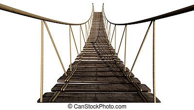 El puente de cuerdas se acerca
