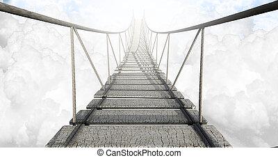 El puente de cuerdas sobre las nubes