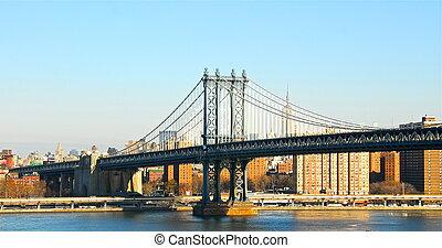 El puente de Manhattan, Nueva York